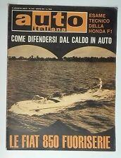 57845 Auto Italiana a. 45 n° 32 1964 Fiat 850fuoriserie - De Tomaso Cortina