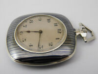 orologio da tasca argento funzionante  HAAS  pocket watch working C194
