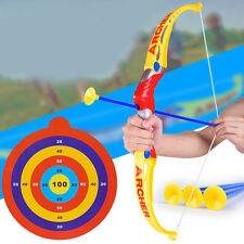 New Kids Archery Toys Set Bow & 3 Suction Cup Arrows Child Safety Targeting Toys