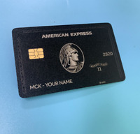 Newest American Centurion Black Card Black Metal Finish Amex Express Card 2020
