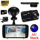 "32gb 4"" HD 1080p Car Dash Cam DVR Dual Camera Front and Rear Recorder AU Stock"