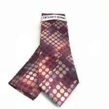 Stacy Adams Men's Tie & Hanky Red Burgundy Bone Beige Charcoal Silver Microfiber