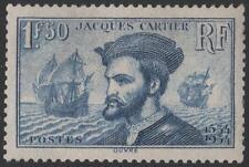 "FRANCE STAMP TIMBRE N° 297 "" JACQUES CARTIER AU CANADA 1F50 BLEU"" NEUF xx A VOIR"