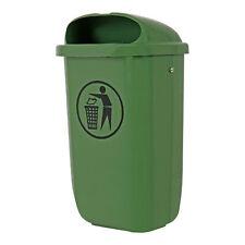 STIER Abfallbehälter mit Regenhaube 50 l grün BxTxH 432x334x745 mm