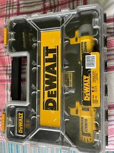 DEWALT DCK218D2TGB Tstak Kit Box With Cordless Combi-Drill and Impact Driver, Ye
