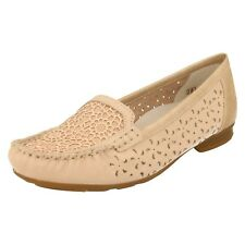 Rieker 40087-31 Ladies Women Casual Suede Leather Slip on Flat Loafer Shoes Rose EUR 37