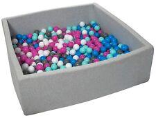 Piscina infantil para niños de bolas pelotas 600 piezas, aprox. 120x120cm