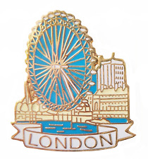 Ciudad de Londres River Thames & London Eye Prendedor Pin