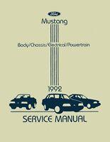 1992 Ford Mustang Shop Service Repair Manual Engine Drivetrain Electrical Book