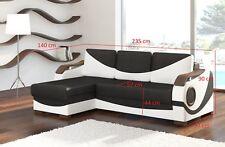 Design Ecksofa Perto Bettfunktion Couch Polster Textil Sofas Couchen Schlaf Sofa