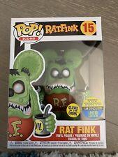 New listing Funko Pop! Icons Rat fink Vinyl Figure Glow in the Dark #15 Sdcc Toy Tokyo