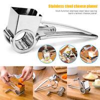 Rotary Cheese Grater Cutter Ginger Garlic Shredder Stainless Steel Hand