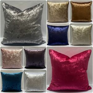 """Crushed Velvet Large Cushion Covers or Filled Cushions 17x17"""", 21x21"""" or 23""""x23"""""""