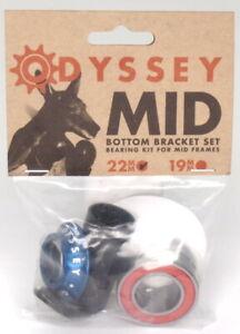 Odyssey Mid BMX Bike Bottom Bracket - 22mm, Anodized Blue