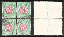 NEW ZEALAND 1935 3d POSTAGE DUE BLOCK (U) (REF:H808) CP Y18b