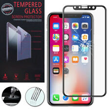 "Cristal protector para Apple iPhone x 5.8"" real de Pantalla Negro"