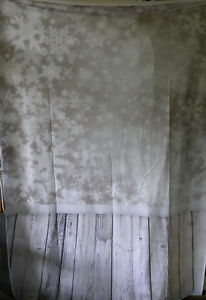 Mohoo 5X7ft Cotton Polyester Photography Background- Snowy Day-Wood Floor- EB35