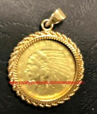 COIN PENDANT with USA 5 Dollar Indian Half Eagle 1912 - COPY