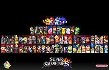 Super Smash Bros - High Quality Wall  Poster - 34 in x 22 in - Fast Shipping