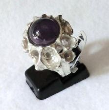 Amethyst Ring Lila 925 Sterling Silber Handarbeit Einzelstück Gr 53/16,8 mm Neu