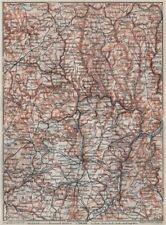 Le grand-duché de luxembourg luxembourg topo-map carte. baedeker 1910 old