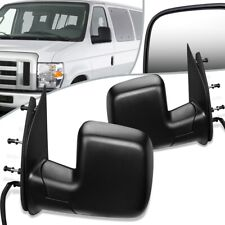 Fit 2009 Ford E150 E250 E350 Pair Powered Side Door Mirror FO1320338 FO1321338