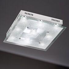 WOFI lámpara LED de techo Brooks 9-flg Cromo Vidrio Decorado 39x39 cm 45 vatios