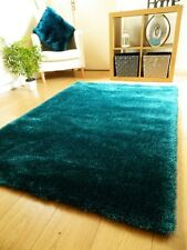 NEW PLAIN THICK SILKY SOFT SHAGGY PILE RUG MODERN LUXURIOUS HIGH QUALITY RUGS UK