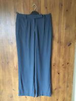 RRP £119 POETRY WOOL BLEND TROUSERS Dark Grey Straight Leg UK 10 12 14 16 NEW