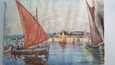 E.Valers 1937 Peinture marine 50x33 cm 19.68x12.99 pouces