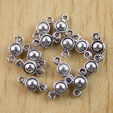 50pcs Tibetan silver ball connector charm h0443