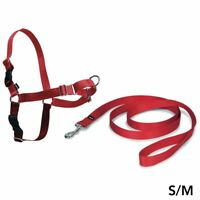 PetSafe Easy Walk Harness & 1.8m Lead for Small/Medium Dogs No Pull Collar - Red