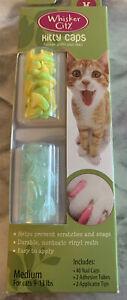 Whisker City Kitty Caps 40 Cat Nail Caps Yellow Green & Green Glitter MED