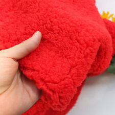 "Red sherpa fleece fabric berber fleece lamb fur fabric lining cloth 60"" BTY"