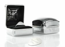 Personalised Guitar Plectrum Pick & ENGRAVED Chrome Case 'Personal Picks'