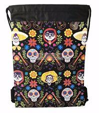 COCO Drawstring Bag, Disney COCO Drawstring Backpack Sling Tote Bag 4A-CC-A
