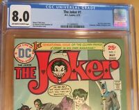DC Comics 1975 The Joker #1 CGC 8.0 Graded
