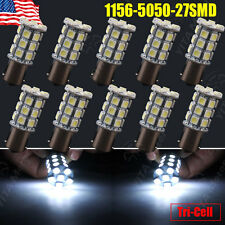 10x Cool White 1156 BA15S 27SMD LED Light Bulbs Tail Brake Stop Backup Reverse