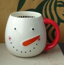 Starbucks Mug Tasse Becher Weihnachten Snowman Schneemann Gesicht 10oz NEU