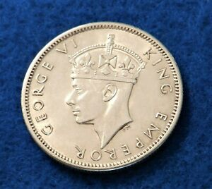 1942 Fiji Shilling - Beautiful Silver Coin - Low MIntage - See Pictures