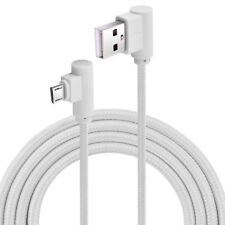 CABLE DATOS CARGA RAPIDA USB A MICRO USB NYLON TRENZADO 90º ANGULO RECTO 1 METRO