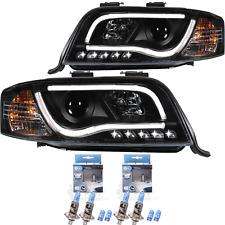 Scheinwerfer Set für Audi A6 C5 Typ 4B 01-05 klarglas/schwarz Tube Lights LED