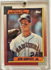KEN GRIFFEY JR ROOKIE 1989 MLB DEBUT RC CARD#46 SEATTLE MARINERS CINCINNATI REDS