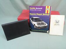1991 Acura Legend Leather Manual Cover, 1991 Honda Accord Owners Manual,+Haynes
