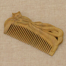 1pc Vintage Sandalwood Anti-static Carved Natural Massage Wood Hair Comb