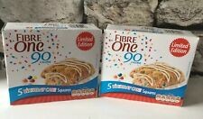 Fibre One - 2 x  Birthday Cake squares boxes - 2 x 5 bars - Slimming World