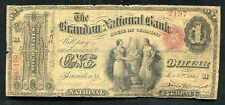 1865 $1 THE BRANDON NATIONAL BANK OF VERMONT NATIONAL CURRENCY CH. #404