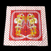 HERMES Carre BRIDES DE GALA LOVE Women's Scarf Stole White 100% Silk M15327