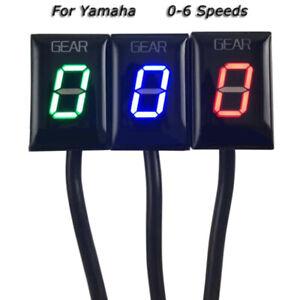 Universal Digital LED Indicator Speed Gear Display for Yamaha YZF-R1 MT-01 FZ-16