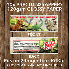 Dinosaurs Personalised Kitkat Chocolate Wrappers Party Favours Gift Bags Kids